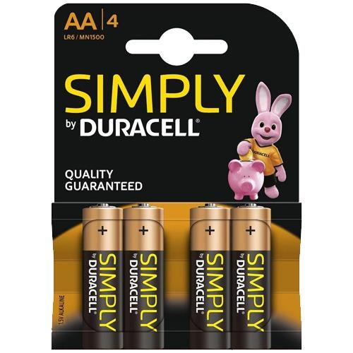 Simply Duracell Aa Batteries 4 Pack 1 5v Alkaline Lr6 Mn1500 Duracell Aaa Batteries Batteries