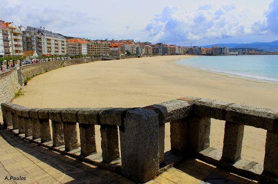 Praia de Silgar. Sanxenxo. (Pontevedra). Galicia. Spain.