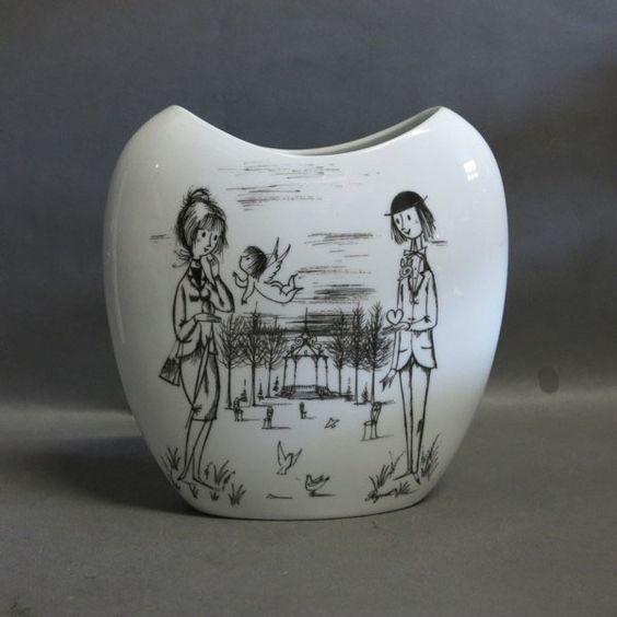 Porcelain vase. Raymond Peynet. 2007.