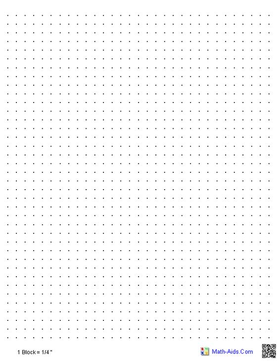 Here are some printable graph paper options for you to use for math - printable dot grid paper