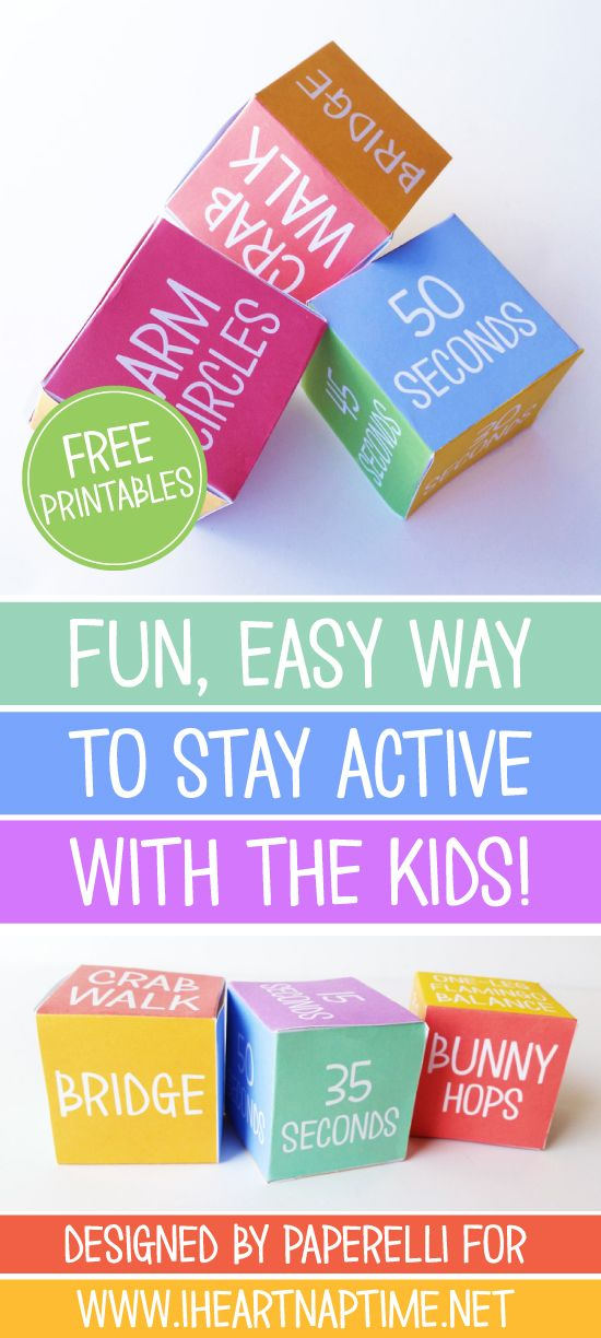 Get the Kids Moving Game from Paperelli for iheartnaptime.com: