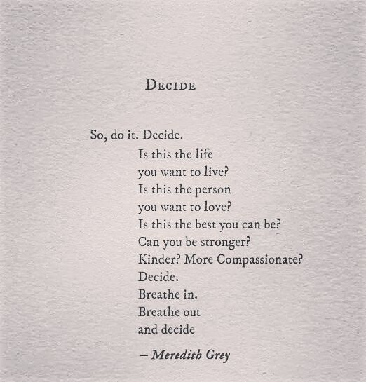 #decide: