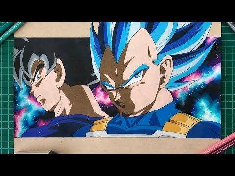 Timelapse Video Of My Vegeta Evolution And Goku Ultra Instinct Drawing Dbz Goku Ultra Instinct Prismacolor Drawings