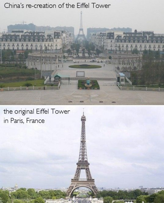 Fake European Towns And Landmarks Made In China When On Earth - Tianducheng a ghostly abandoned clone of paris in the middle of china