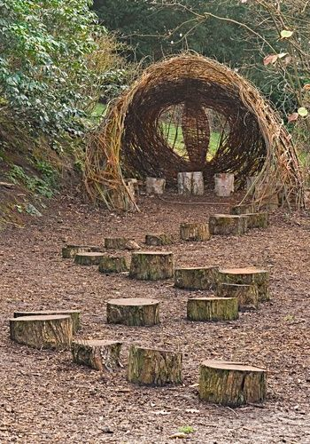 Willow Play House Ness Gardens Neston By Norma Brazendale At Picturesofengland Com In 2020 Play Garden Natural Play Spaces Outdoor Playground