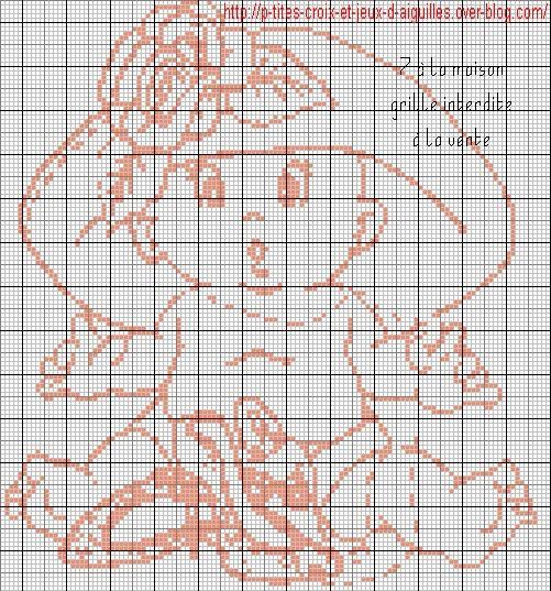 Le blog de 7 la maison point de croix tricot grilles - Differents points de tricot ...