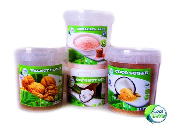 Kokosöl, Walnussmehl, Kokosblütenzucker, Himalaya Salz 4x500g STARTPACKUNG!!!