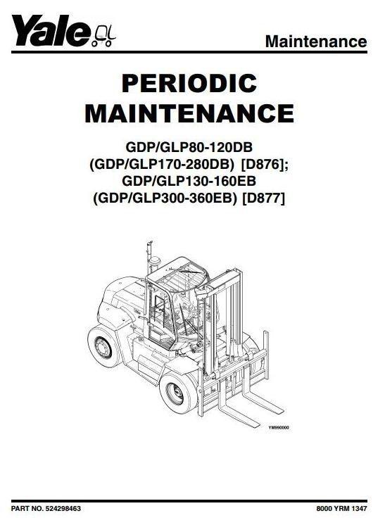 Original Illustrated Factory Workshop Service Manual For Yale Diesel Lpg Forklift Truck D877 Ser Cell Phones In School Mobile Phone Jammer Cell Phones For Sale