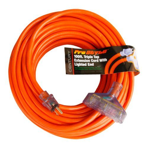 Prostar 100 Foot 10 Gauge Sjtw 3 Conductor Triple Tap Extension Cord With Lighted Ends Orange Check Out This Great Product Extension Cord Cord Extensions