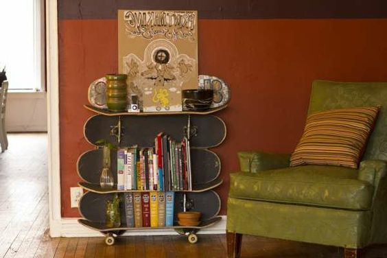 regale selber zusammenstellen bretter aus skateboard