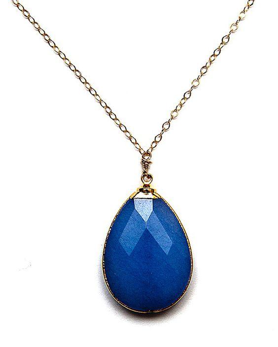 Blue Jade Amsu Necklace - wow