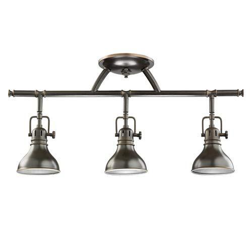 $185    Olde Bronze Halogen Rail Light Kichler Directional Spotlights Track Lighting Ceiling Ligh