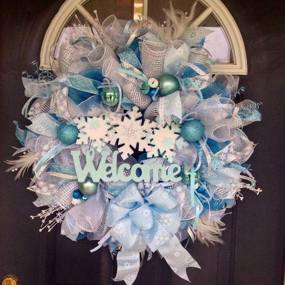welcome christmas wreath on - photo #29
