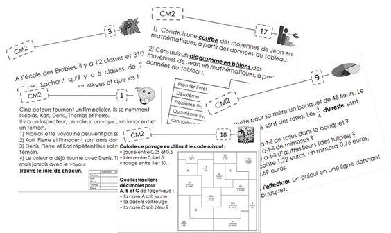 Fichier exercices maths en autonomie - Cm2