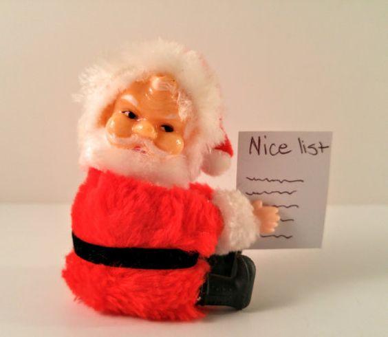Vintage Clip on Santa Hugger Miniature Doll. by VintageQuinnGifts