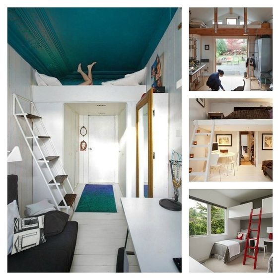décoration de studio et lits avec mezzanine pour adulte