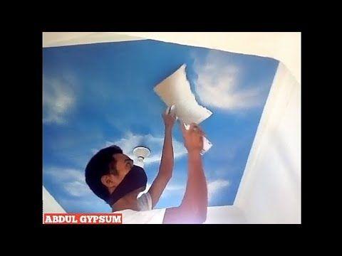 Cara Cepat Mengecat Motif Awan 5 Menit Finish Youtube Wall Art Wallpaper Wall Painting Room Paint Designs