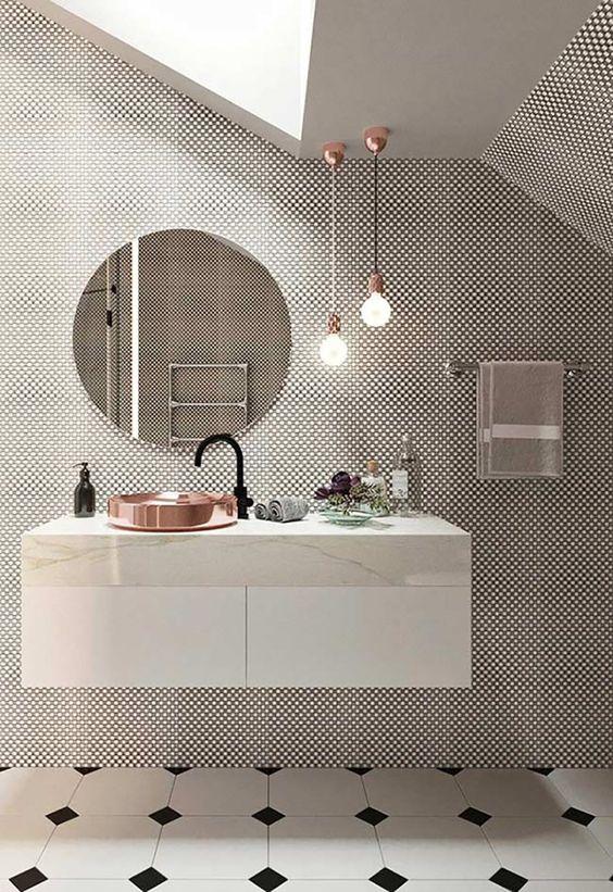 10 banheiros P&B para se inspirar! - Danielle Noce