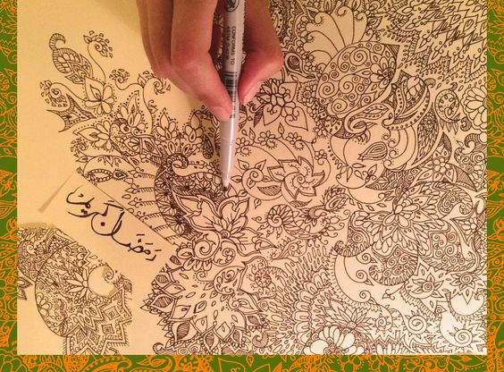Henna style doodle