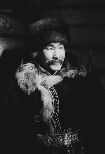 A Turanian man in traditional dress.: