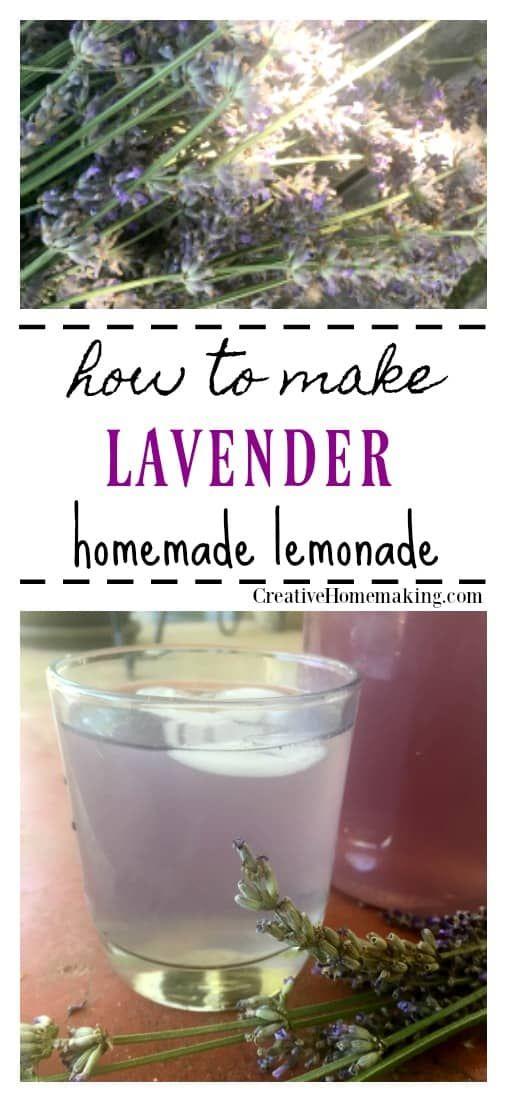 Lavender Lemonade Recipe Creative Homemaking Lavender Lemonade Lavender Recipes Fresh Juice Recipes