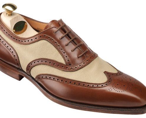 Colonial Style Spectator with Canvas by Crockett & Jones