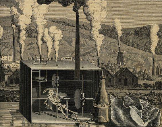Max Ernst. Illustration and collage for Hans Arp's song 'Weißt du schwarzt du'…