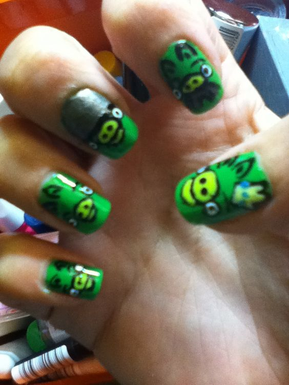 Angry Birds Pig nails- Selfmade