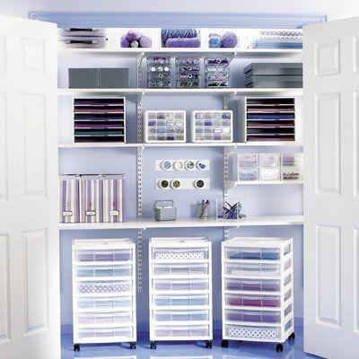 neat lil craft closet