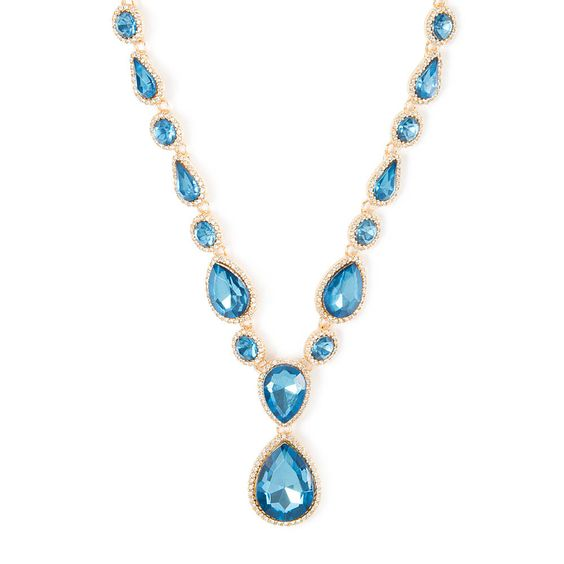 Crystal Edged Teardrop Statement Necklace | Claire's