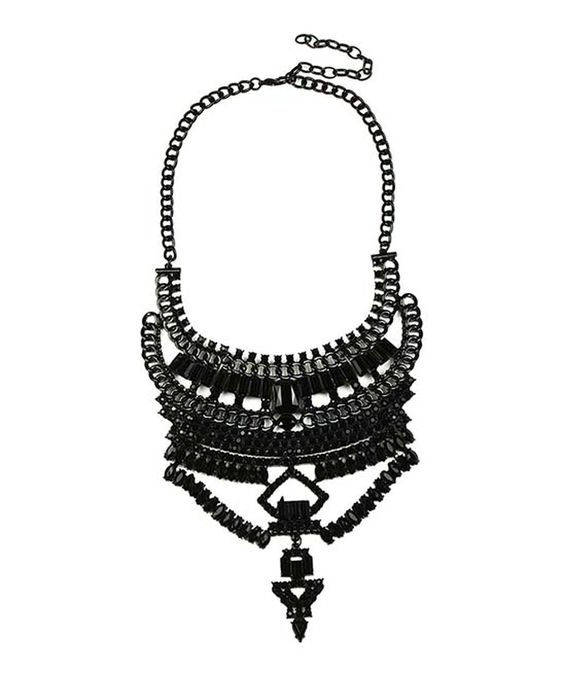 Look at this #zulilyfind! Black Crystal Britt Necklace by Eye Candy LA #zulilyfinds