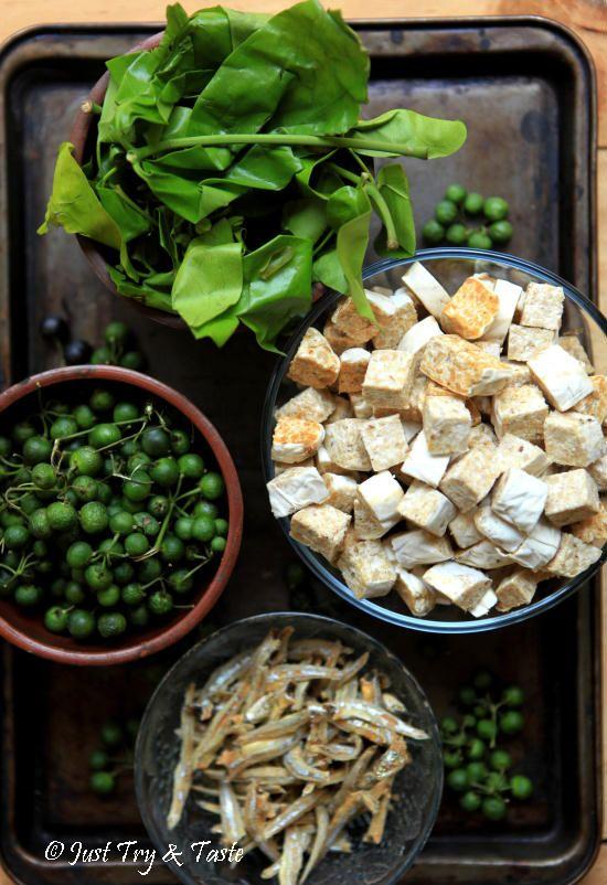 Tumis Tempe Gembus Leunca Teri Dan Daun Melinjo Tumis Makanan Masakan