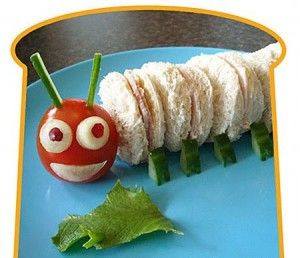 Sandwich oruga divertido y sabroso   Recetas para niños a partir de 1 año