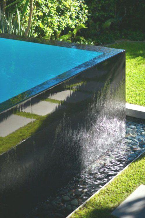 Black Tiled Pool Infinity Edge Pinned To Pool Design By Darin Bradbury Black Bradbury Darin Design Edge Infinity Pi Pool Designs Pool Swimming Pools