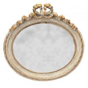Very beautiful scenery with its carved decorations ribbon bows patinated gilt Louis XVI style, of great beauty to beautify the room of your choice.  This beautiful mirror is horizontal wall mount and has a beautiful gray patina.