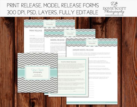 Photo Print Release Form Template Photography by DovieScottPhoto - release forms