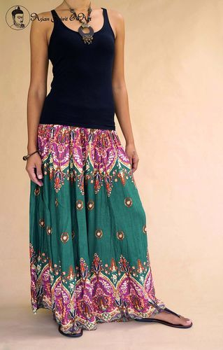 Sari maxi skirt - Find our shop at http://stores.ebay.de/Asian-Spirit-and-Art or connect with us on facebook http://www.facebook.com/asian.spirit.art