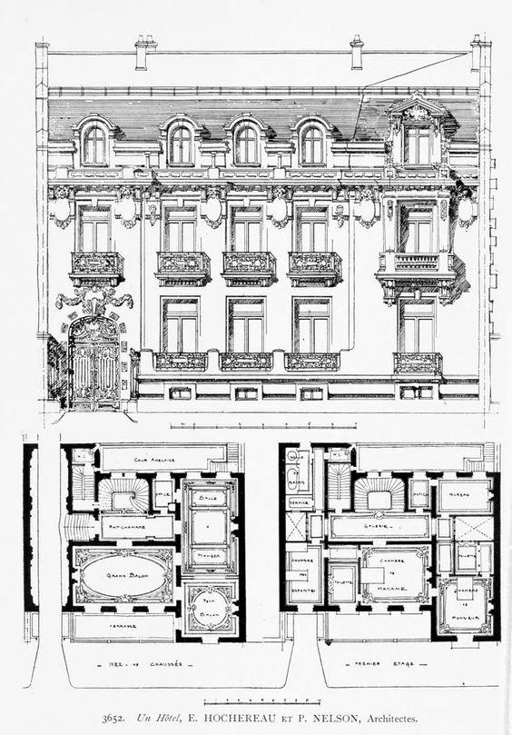 Design for a h tel particulier paris french classicism - Hotel particulier paris bismut architecture ...