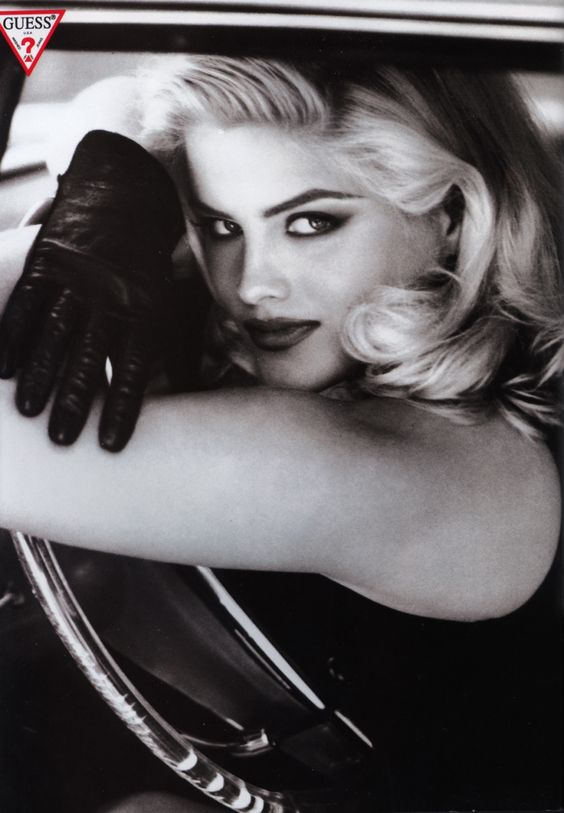 Guess ad size 18/20 anna nicole smith....Had the body of my dreams back then. 5ft11 blond and curves for days....I hate that she slimmed down pilled/ crazyed up. I wish she knew how AMAZING and Iconic she was to people like me. I was barely in my 20's when she hit magazines...RIP ANS, you are the most beautiful of modern day broken flowers....said by previous pinner....beautifully said....
