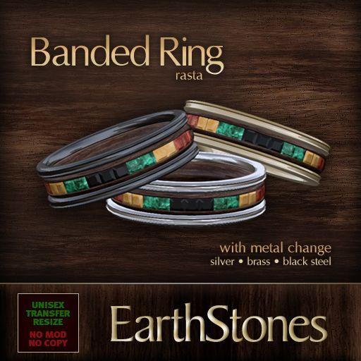 rasta wedding rings   Unisex Banded Rings « EarthStones