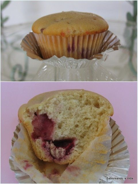 saboreando a vida: Muffins de Morangos