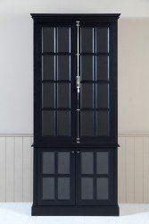 Stafford Bücherschrank medium schwarz lackiert