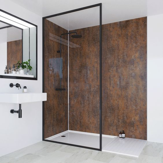Make A Statement By Choosing A Stylish Wall Panel Over Tiles Bathroomdecor Bathroomideas Bathroominsp Bathroom Wall Panels Shower Wall Panels Wall Paneling