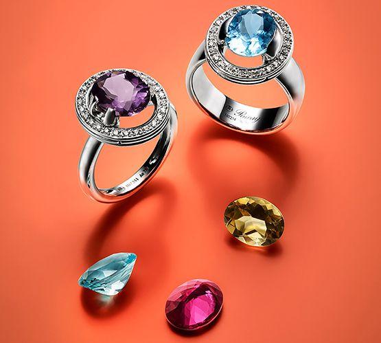 So beautiful ...Les bagues interchangeables de la maison #Poiray - ABC Luxe #luxe #diamond #ring