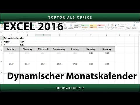 Dynamischen Monatskalender Erstellen Download Excel Youtube In 2020 Monatsplaner Vorlage Kalender Vorlagen Terminplaner Vorlage