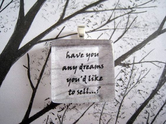 Dreams by Fleetwood Mac Glass Tile Pendant by lyricallady on Etsy, $7.50
