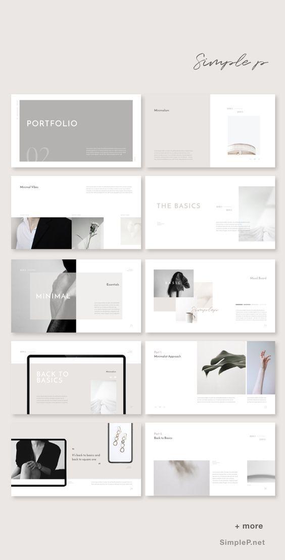 Basic Powerpoint Template Portfolio Template Design