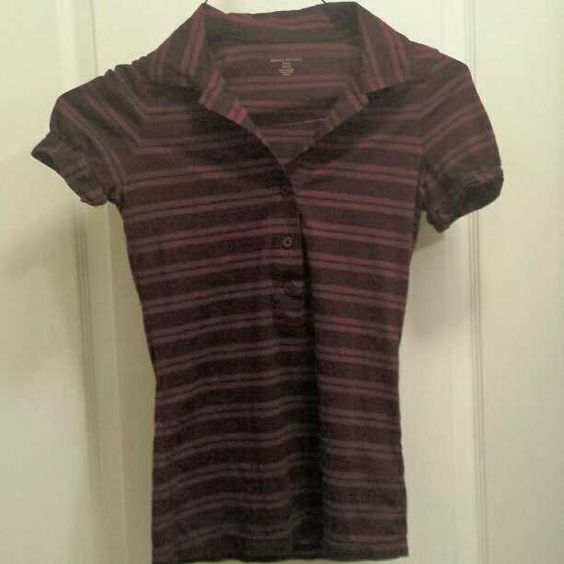 Don't miss this great buy! This super cute Banana Republic maroon and navy polo is 100% cotton. Was $25 brand new but it's all yours for $7!!!
