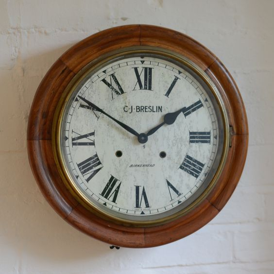 Antique dial clock with modern quartz movement - all the style none of the fuss. Available from Charlotte Jones Interiors.
