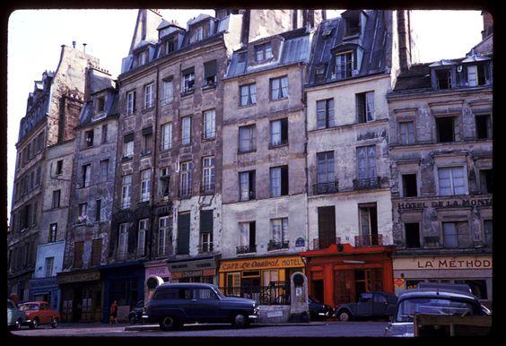 Rue Descartes, Paris, mai 1960. Photographie de Charles W. Cushman.